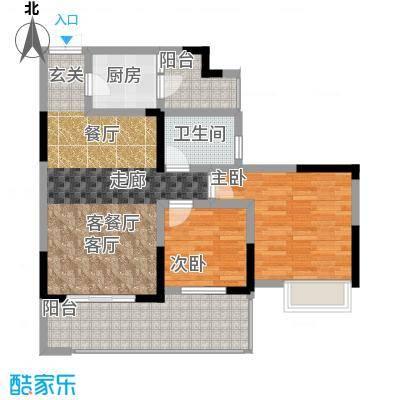 祥和御馨园二期户型2室1厅1卫1厨