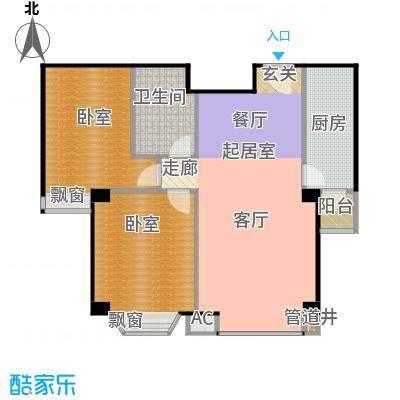 瑞海姆公寓87.00㎡B户型二居户型