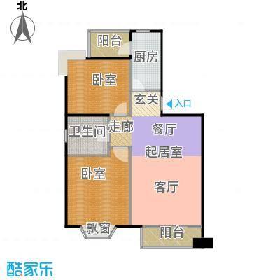 瑞海姆公寓94.00㎡A户型二居户型