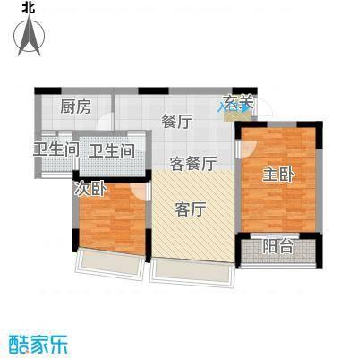 朵力名都(三期)70.22㎡房型:二房;面积段:70.22-73.72平方米;户型10室