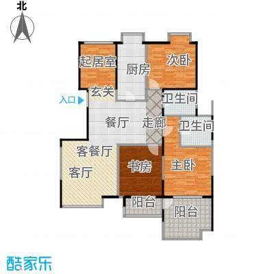 益田影人四季花园157.00㎡3B-s户型3室1厅2卫1厨