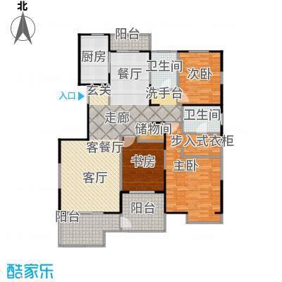 益田影人四季花园150.00㎡3Cn-S户型3室1厅2卫1厨