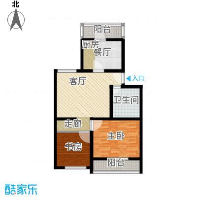康庄住宅小区82.33㎡两室两厅一卫户型