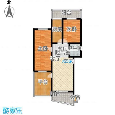 观山小筑(燕水佳园)113.11㎡C户型二室一厅一卫户型