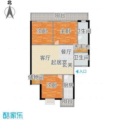 兴谷嘉和134.12㎡三室一厅二卫户型