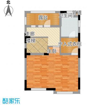世外桃苑・峰景湾A户型 三楼平面图户型