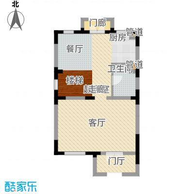 世外桃苑・峰景湾A户型 一楼平面图户型