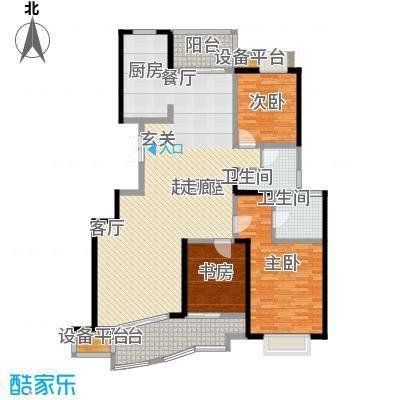 锦上华庭铭邸户型3室2卫