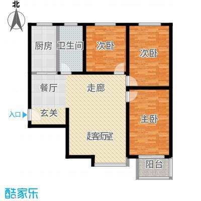 锦绣范阳114.78㎡D2户型3室2厅1卫