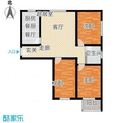 锦绣范阳104.18㎡H1A户型3室2厅1卫