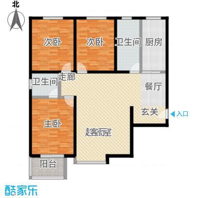 锦绣范阳124.69㎡锦绣范阳124.69㎡3室2厅2卫户型3室2厅2卫