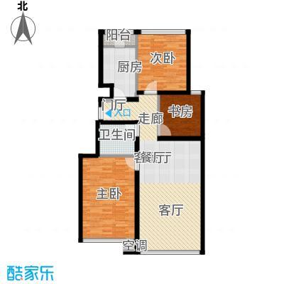 世嘉正园98.93㎡C2户型 三室两厅一卫户型3室2厅1卫