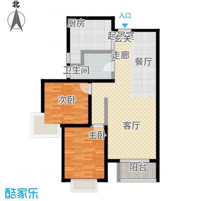 锦绣范阳89.76㎡D3户型2室2厅1卫