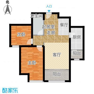 华业东方玫瑰87.00㎡c10户型2室1卫1厨