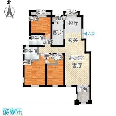 香邑溪谷136.00㎡B2户型三室两厅两卫户型3室2厅-T