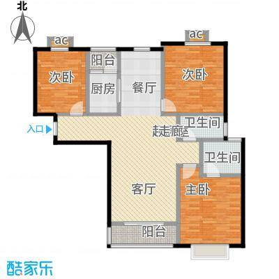 公园世家・观山樾118.71㎡C3 三室两厅两卫户型3室2厅2卫