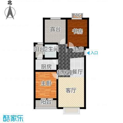 公园世家・观山樾89.23㎡C1 两室两厅一卫户型2室2厅1卫