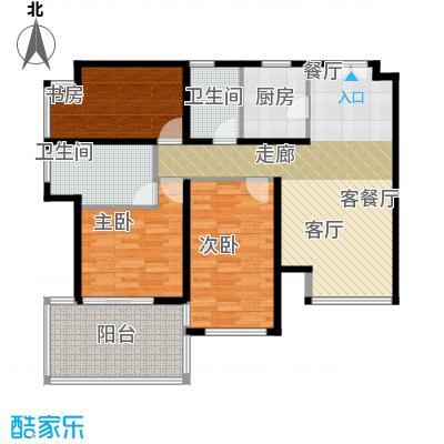 K2清水湾112.00㎡2-5#GX-2(偶)户型3室1厅2卫1厨