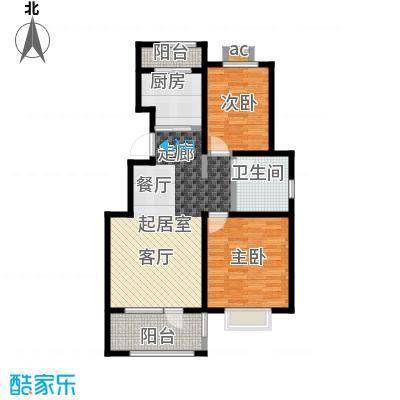 公园世家・观山樾93.06㎡B1户型 两室两厅一卫户型2室2厅1卫