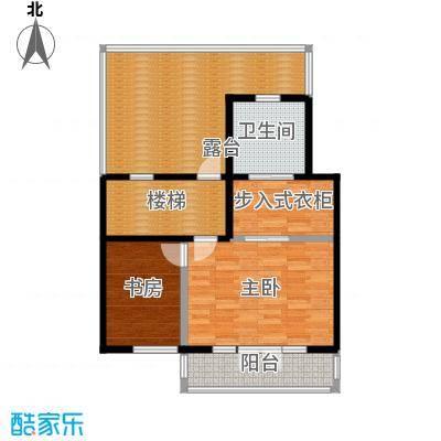 望京西府J三层户型2室1卫