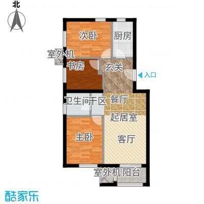 朱辛庄限价房B(3-1)户型3室1卫1厨