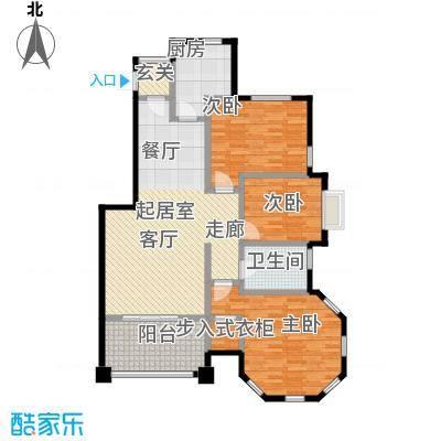 京津锦绣香江E户型3室1卫1厨