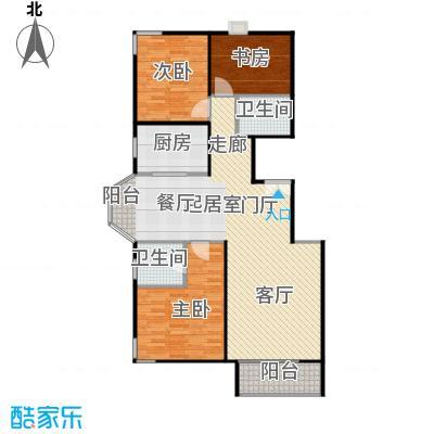 京汉铂寓(顺义)117.39㎡二期辛1户型3室2卫1厨