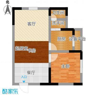 正升百老汇广场51.02㎡一房一厅一卫-套内面积51.02平方米户型