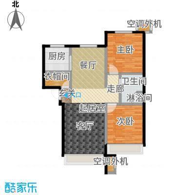 保利罗兰香谷二期90.00㎡B4中户型 两室两厅一卫户型2室2厅1卫