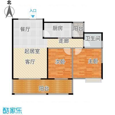 骏逸第一江岸孔雀湾二期12号楼C户型2室1卫1厨