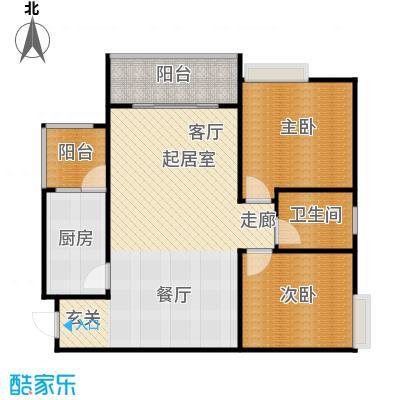 骏逸第一江岸孔雀湾二期11号楼B户型2室1卫1厨