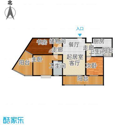 骏逸第一江岸孔雀湾二期12号楼B户型3室2卫1厨