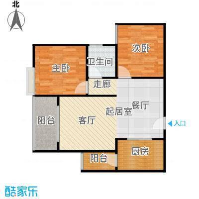 骏逸第一江岸孔雀湾二期11号楼C户型2室1卫1厨