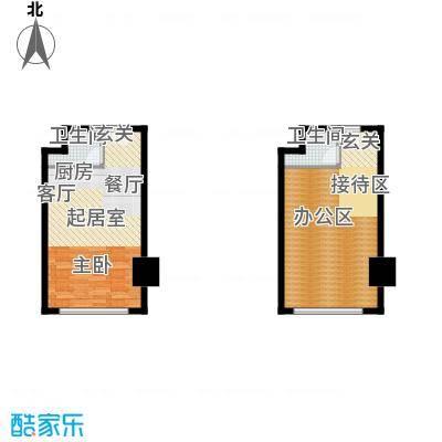 万达广场68.09㎡26克拉公寓C栋16号、6、7、14、15号房房户型2卫