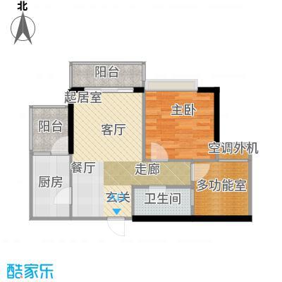 天景美梦城真49.85㎡二房二厅一卫-套内面积约49.85平方米户型