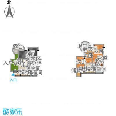 海棠晓月・怡景天域(二期)233.04㎡复式-套内面积约234平方米户型