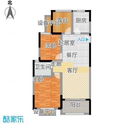 聚盛花园明日星城101.00㎡3房2厅1卫101平米户型3室2厅1卫