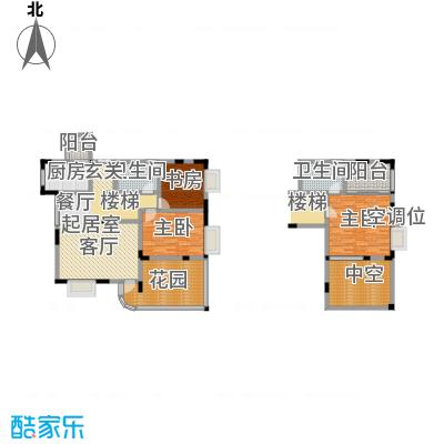 江南水乡(二期)118.17㎡房型: 复式; 面积段: 118.17 -122.51 平方米;户型