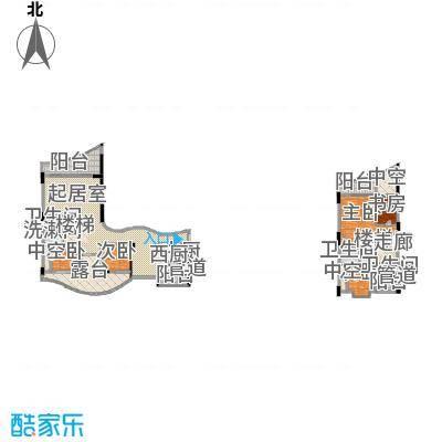 海棠晓月・怡景天域(二期)233.04㎡复式-套内面积约275平方米户型