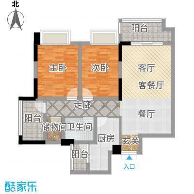 富州新城D街区E-1可变户型2室1厅1卫1厨