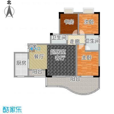 升伟・新天地(二期)房型户型3室2卫1厨
