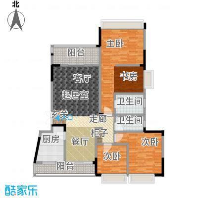 凤天锦园(二期)房型户型3室2卫1厨