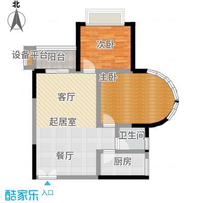 华宇・西城丽景(一期)房型户型2室1卫1厨