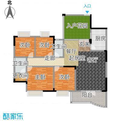 凤天锦园(二期)房型户型4室2卫1厨