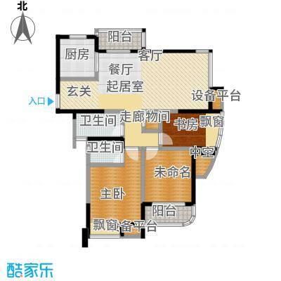新城熙园132.00㎡三房二厅二卫-132平方米-60套。户型