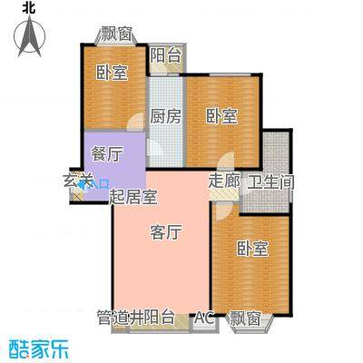 瑞海姆公寓105.00㎡C户型三居户型