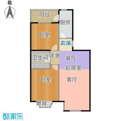瑞海姆公寓95.00㎡B户型二居户型