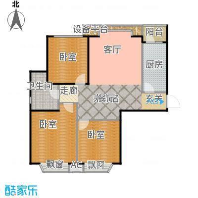 瑞海姆公寓105.00㎡A户型三居户型