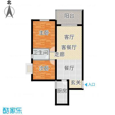 四季美景香樟雅郡90.31㎡二房二厅一卫-89.36平米-18套户型