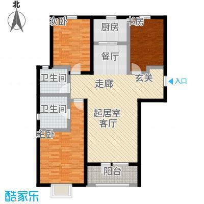 香邑溪谷119.00㎡A5户型三室两厅两卫户型3室2厅-T